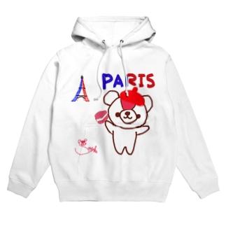 パリとおせんちゃん Hoodies