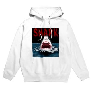 サメ SHARK ブラック Hoodies