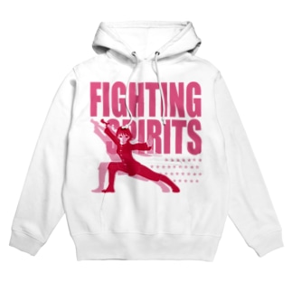 戦う少女~FIGHTING SPIRITS(赤)~ Hoodies