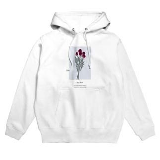 花言葉 rose Hoodies