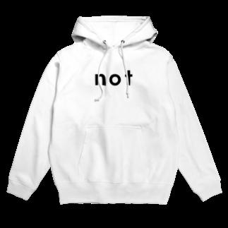 notのnot_logo bk Hoodies