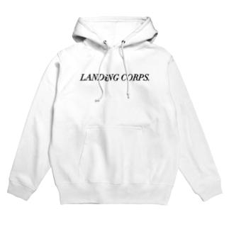 LANDiNG  CORPS. ロゴシリーズ Hoodies