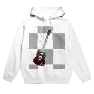 イラストらんどのSGギター Hoodies