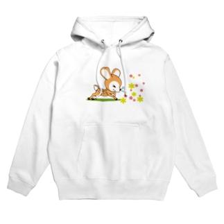 花粉症のバンビ[イラスト大] Hoodies