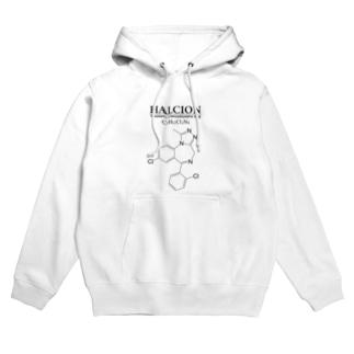 ハルシオン(トリアゾラムを使用した睡眠導入剤[睡眠薬]):化学:化学構造・分子式 Hoodies