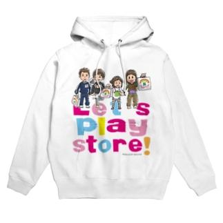 Let's play store!(両面印刷) Hoodies