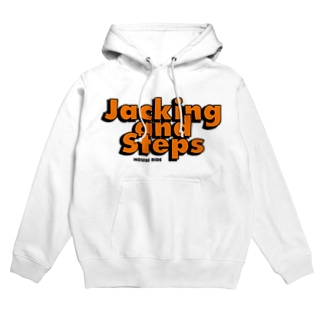 Jacking and Steps オレンジ Hoodies