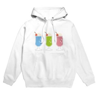 クリームソーダ(3colors) Hoodies