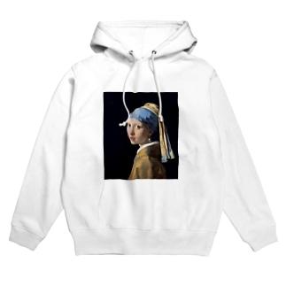 フェルメール / 真珠の耳飾りの少女(The Girl with a Pearl Earring 1665) Hoodies