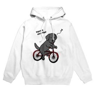 bicycleラブ 黒 Hoodies