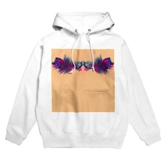 色彩の羽根 002 Hoodies