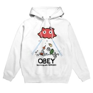 めんだこちゃん OBEY (淡色用)  Hoodies