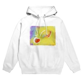 Love fruits Clear Hoodies