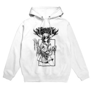 GORE-JK(MONO WHITE) Hoodies