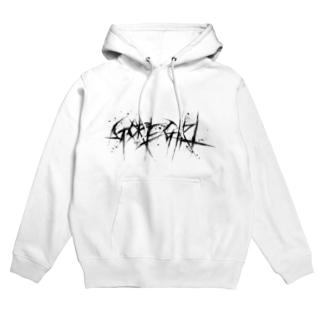 GORE-GIRL LOGO(WHITE) Hoodies