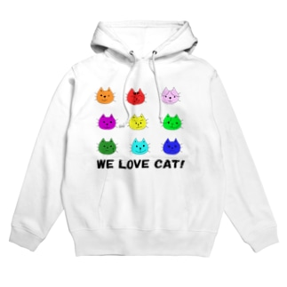 WE LOVE CAT (猫) Hoodies