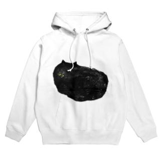 夏の黒猫 Hoodie