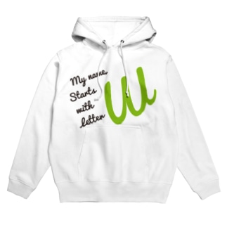 My name starts with letter W Hoodies