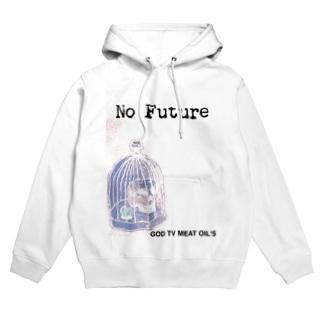 No  Future-スカル×鳥かご Hoodies