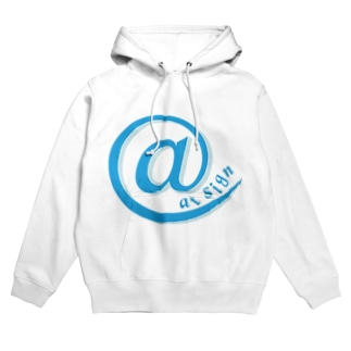 at sign blue Hoodies