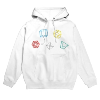 Regular Polyhedron (横) Hoodies