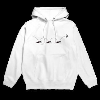 Kazumi Inadaのピクトロゴ・因幡の白兎(白) Hoodies
