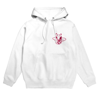 clumsyのはち(RED) Hoodies