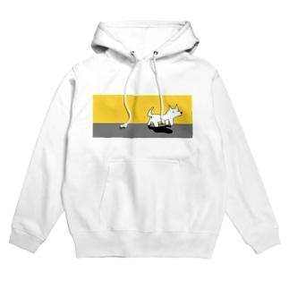 カムチャッカマーガリンドッグ(黄色) Hoodies