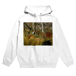 Art Baseの熱帯嵐のなかのトラ / アンリ・ルソー(Tiger in a Tropical Storm(Surprised!)1891) Hoodies