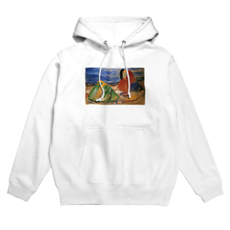 Art Baseのムンク / 憂鬱 / Melancholy / Edvard Munch / 1911 Hoodies