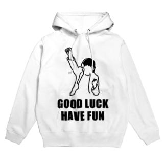 Good Luck Have Fun(イラスト) Hoodies