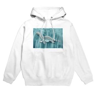猫耳恐竜 Hoodies