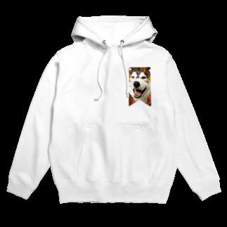 Dream Dog World 【夢犬】のハスキー タペストリー Hoodies