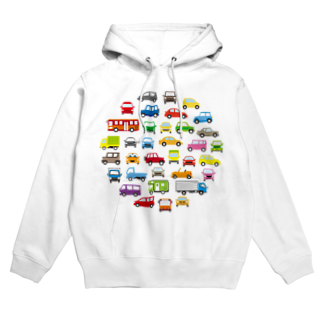 かわいいデザインのグッズ屋さんの色んな車のサークルギャラリー Hoodies