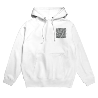 文字化けSMALL Hoodies