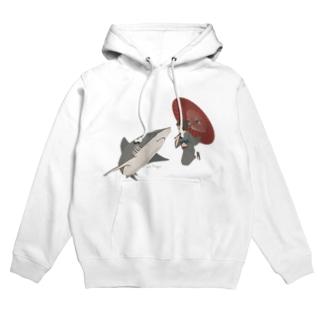 サメと出会うさめ子さん。 Hoodies