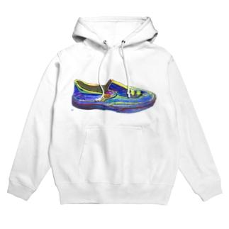 未来への靴 Hoodies