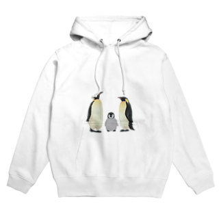 彩り亭のコウテイペンギン家族 Hoodies