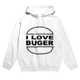 I LOVE BUGER Hoodies