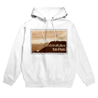 ギリシャ:スニオン岬のポセイドーン神殿★白地の製品だけご利用ください!! Greece:Temple of Poseidon at Cape Sounion★Recommend for white base products only !! Hoodies