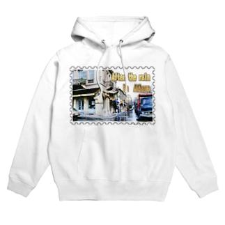 ギリシャ:雨上がりのアテネ★白地の製品だけご利用ください!! After the rain in Athens/Greece★Recommend for white base products only !! Hoodies