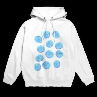 水草のブルー玉いっぱい Hoodies