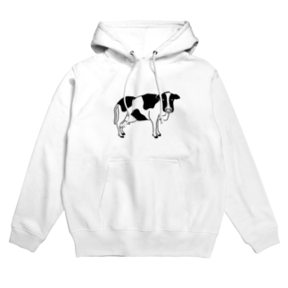 Aliviostaの牛が見てる ウシ 動物イラスト Hoodies