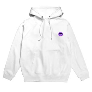 LIP_purple Hoodies