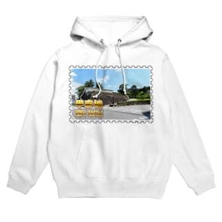 日本の城:甲府城(舞鶴城)★白地の製品だけご利用ください!! Japanese castle: Kofu castle ( Maizuru castle)★Recommend for white base products only !! Hoodies