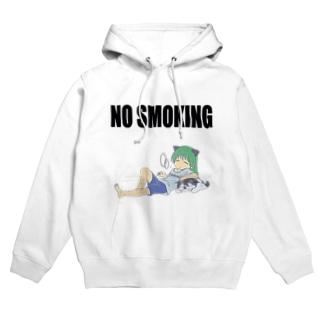 NO SMOKING せいらさんと犬丸 Hoodies