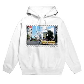 東京都:東京スカイツリー★白地の製品だけご利用ください!! Tokyo: Tokyo Skytree from Asakusa★Recommend for white base products only !! Hoodies