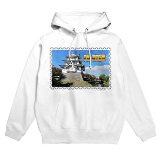 日本の城:忍城★白地の製品だけご利用ください!! Japanese castle: Oshi Castle/ Gyoda★Recommend for white base products only !! Hoodies