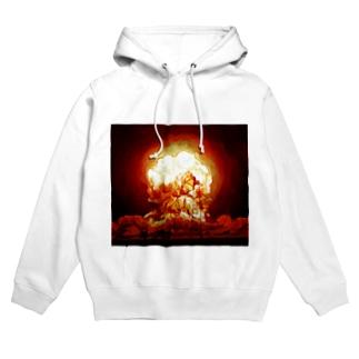例の爆発 Hoodies