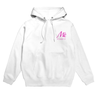 MESARION+ロゴ 文字切り抜きVer(ピンク) Hoodies